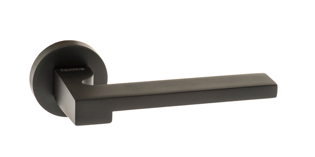 Atlantic UK Forme FMR430MB 'Ginevra' Matt Black Door Handles on Round Rose