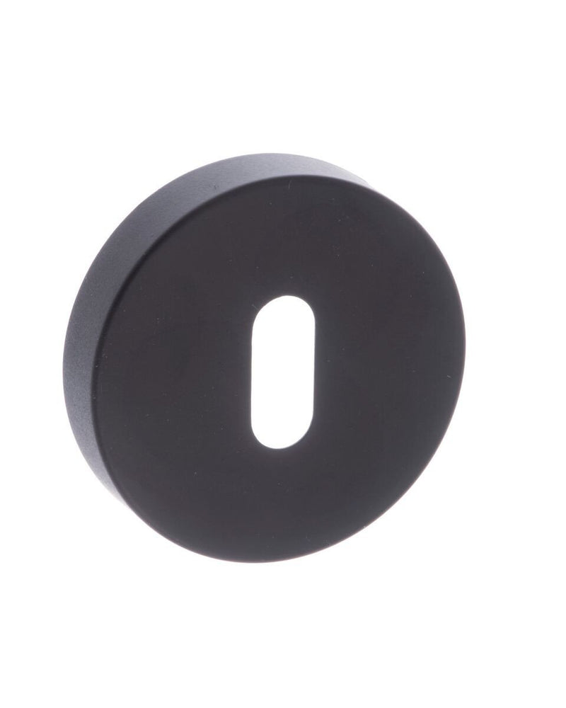 Atlantic UK 'Forme' Matt Black Keyhole escutcheon - FMRKMB
