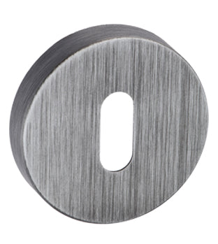 Atlantic Forme 'Standard Profile' Escutcheon On Minimal Round Rose, Urban Graphite