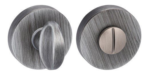 FMRWCUG Atlantic Forme Bathroom Turn & Release On Minimal Round Rose, Urban Graphite Finish