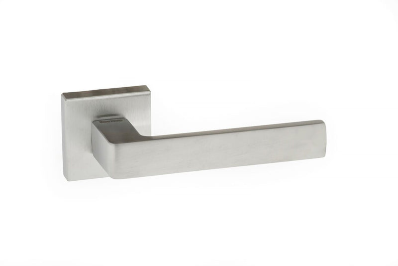 Satin Chrome Atlantic UK Asti Forme Door Handles On Square Rose - FMS254SC