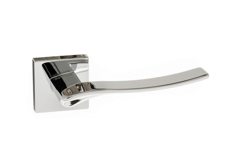 Polished Chrome Atlantic UK Olimpia Forme Door Handles On Square Rose-FMS280PC