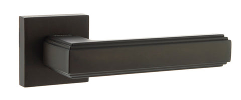 Atlantic UK Forme FMS293UDB 'Alila' Urban Dark Bronze Art Deco Lever on Square Minimal Rose