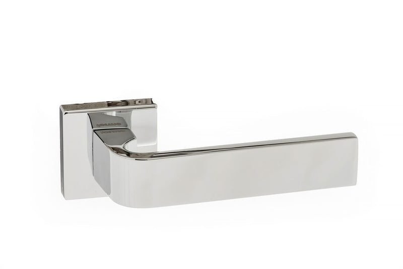 Polished Chrome Atlantic UK Monza Forme Door Handles On Square Minimal Rose-FMS413PC
