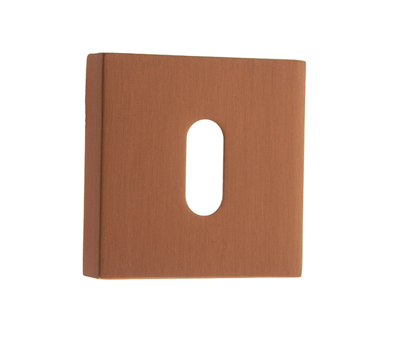 Urban Satin Copper - Atlantic Forme 'Standard Profile' Keyhole Escutcheon on Minimal Square Rose