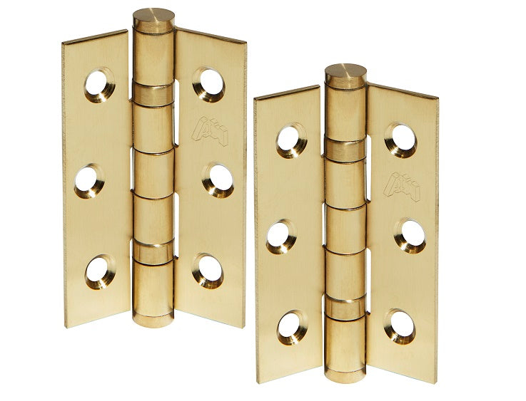 3 Inch Satin Brass Ball Bearing Hinges