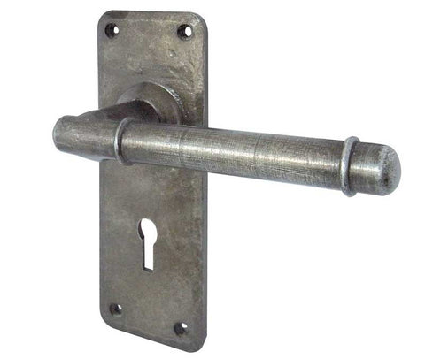 Belfry Handforged Pewter Door Handles Lock