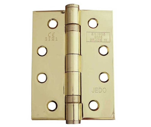 4 Inch Electro Brass, Grade 11 Fire Rated, Ball Bearing Hinges