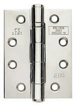 4 Inch Polished Chrome, Grade 11 Fire Rated, Ball Bearing Hinges