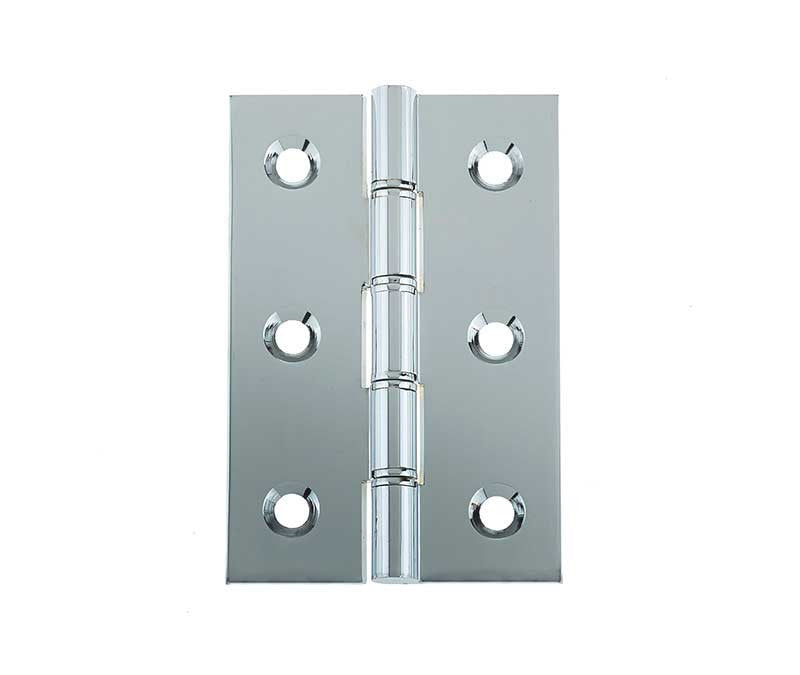 3 Inch Polished Chrome Double Phosphor Bronze Washered Hinges