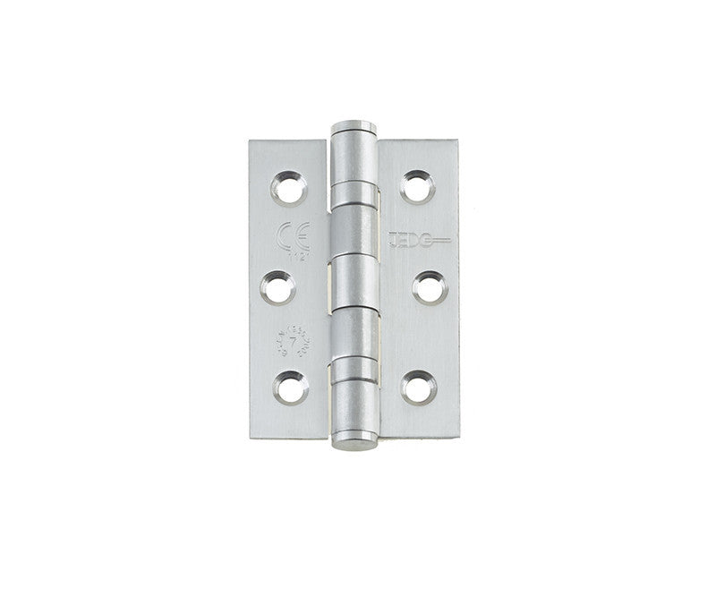 3 Inch Grade 7 Fire Rated, Satin Stainless Steel, Ball Bearing Hinges