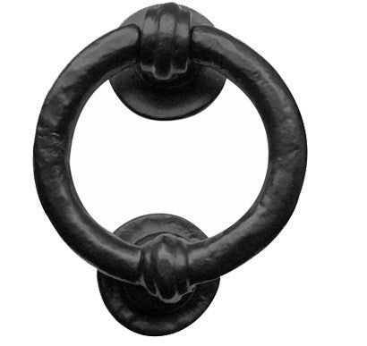 JAB7 Ring Black Antique Door Knocker
