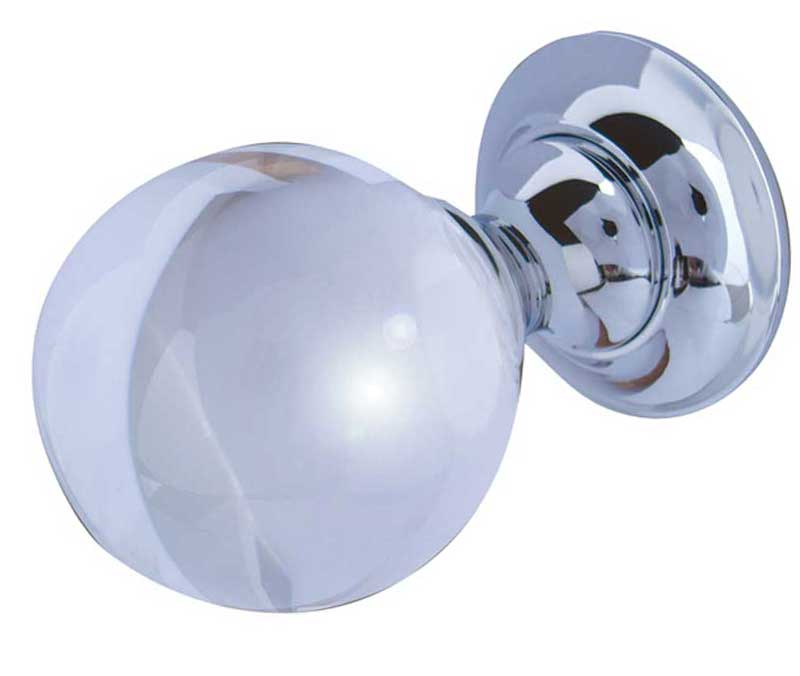 frelan jedo collection Plain Ball Glass Mortice Door Knobs - JH1150 polished chrome rose