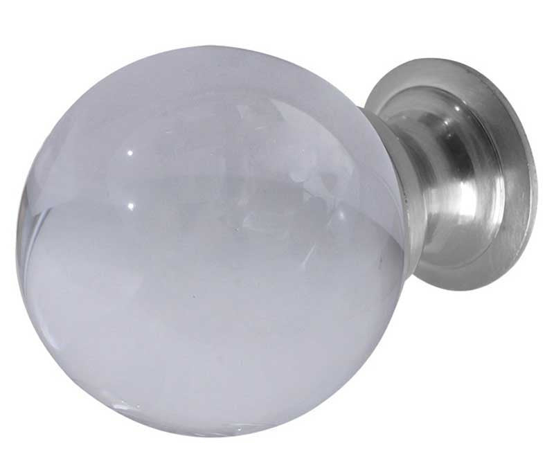 JH1156 Frosted Glass Cupboard Knobs - Various Sizes and Finish