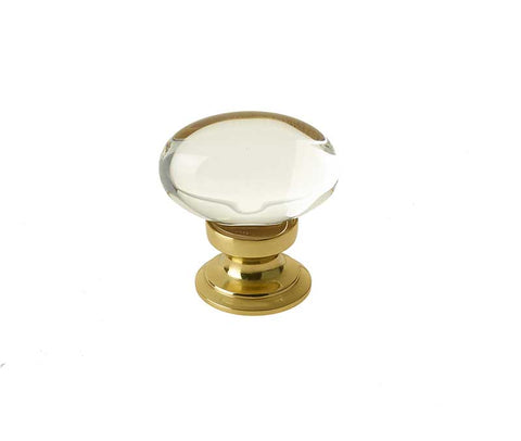 Oval Glass Cupboard Door Knobs