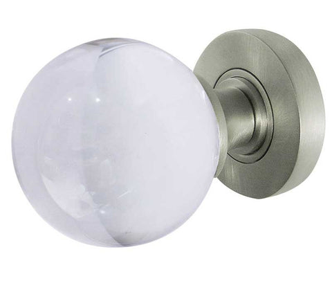 Jedo Plain Ball Glass Door Knob - Satin Chrome