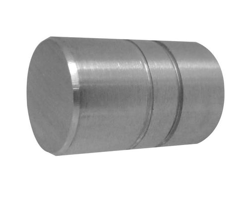 Cylindrical Stainless Steel Cupboard Knob