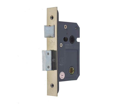 Heavy Duty Bathroom Mortice Lock - Stainless Steel Plates