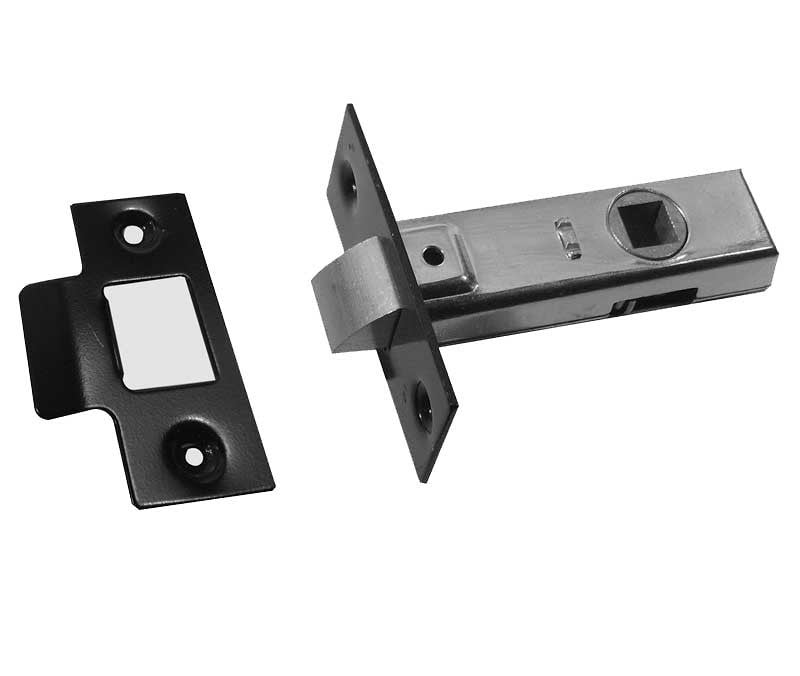Black 2.5 Inch Tubular Mortice Door Latch