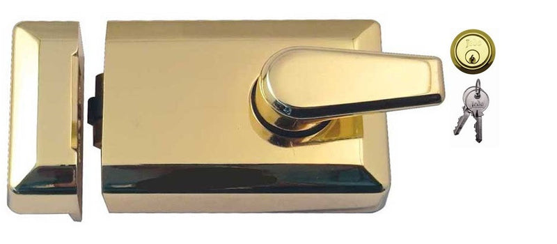 JL5011 Rollerbolt Nightlatch Polished Brass