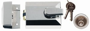 JL5011 Rollerbolt Nightlatch Polished Chrome or Satin Chrome