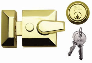 JL5031 Narrow Width Nightlatch Polished Chrome or Polished Brass
