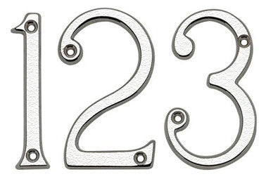 JNSC 75mm Satin Chrome Screw Fix Numeral