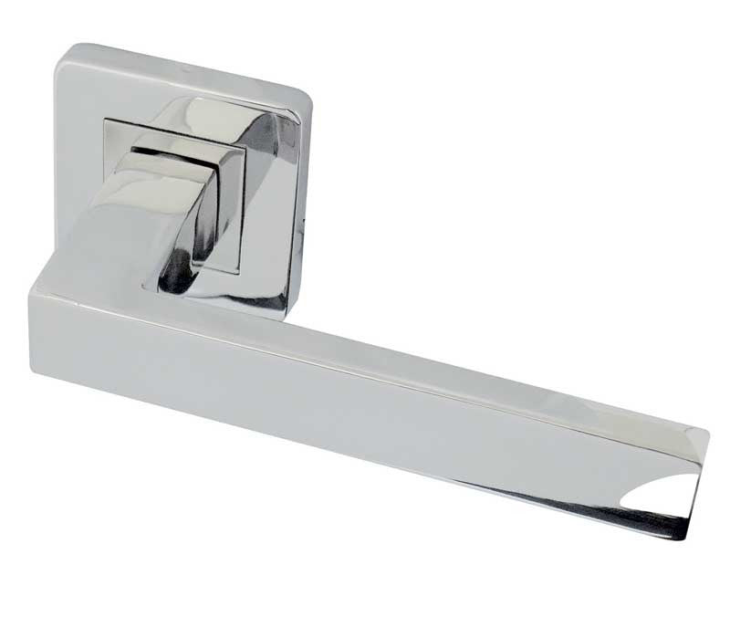 Sirius Polished Stainless Steel Door Handles On Rose