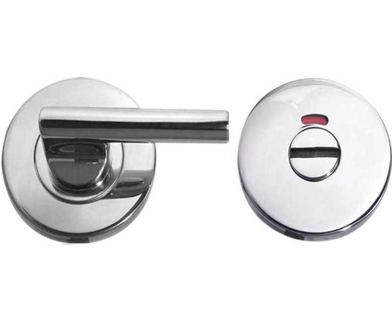 Polished Stainless Steel Easy Turn Bathroom Turn & Release