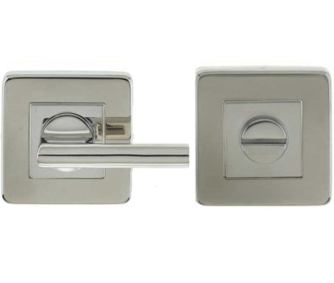 Square Polished Stainless Steel Bathroom Turn and Release