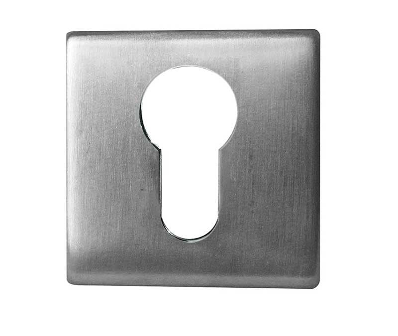 Square Euro Profile Stainless Steel Keyhole Cover Plate