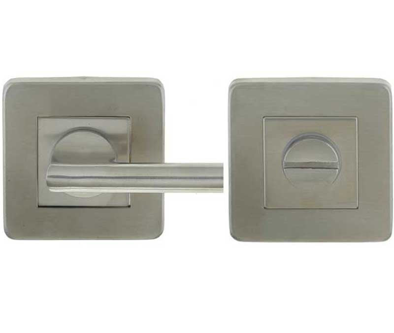 Square Satin Stainless Steel Bathroom Turn and Release