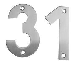 Satin Stainless Steel Screw-On Door Numerals