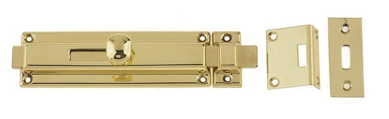 Polished Brass Long Reach Surface Door Bolts