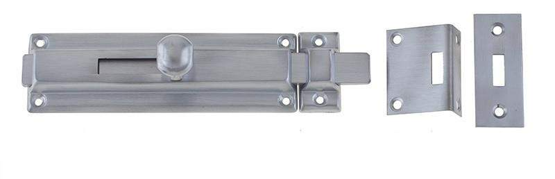 Satin Brushed Chrome Long Reach Surface Door Bolts