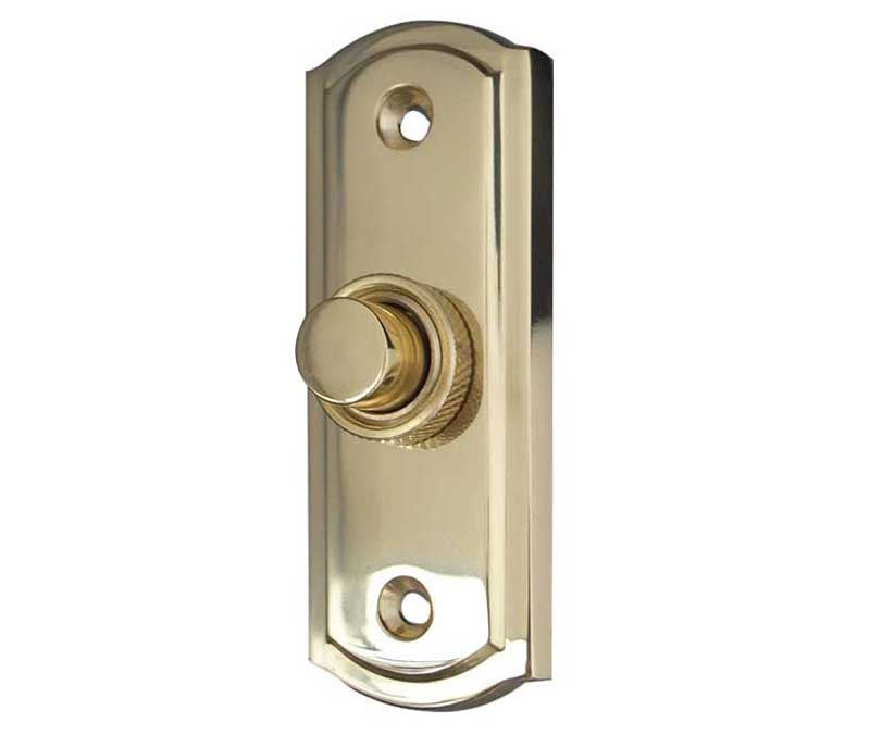 JV17PB Sloane Bell Push Polished Brass