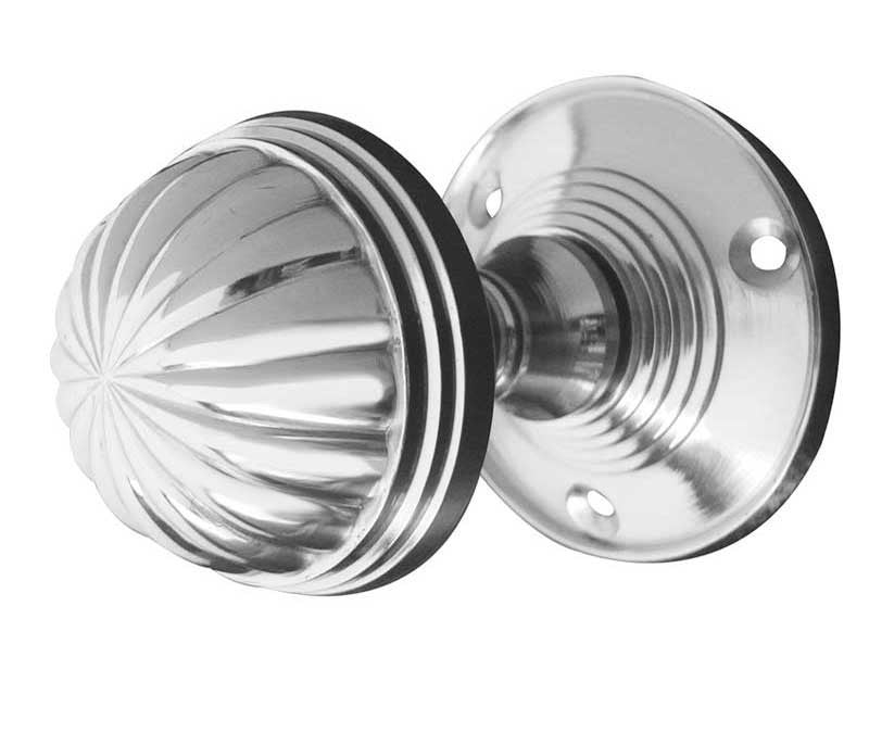 Polished Chrome JV183MPC Fluted Mortice Door Knobs