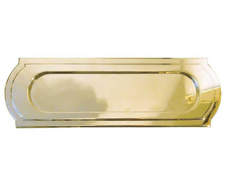 JV25 Sloane Polished Brass Letterplate