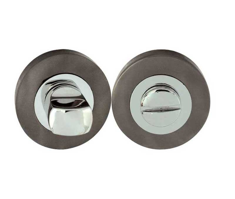 Polished Chrome/Black Nickel Bathroom Turn and Release JV2666BNPC