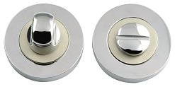 Polished Chrome/Satin Nickel Dual Finish Bathroom Turn and Release JV2666PCSN