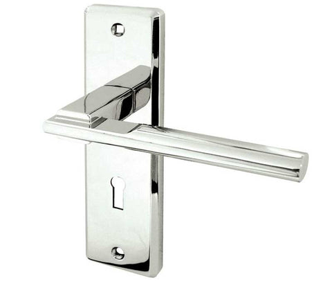 JV3003PC Locking Polished Chrome Frelan Hardware Delta Door Handles