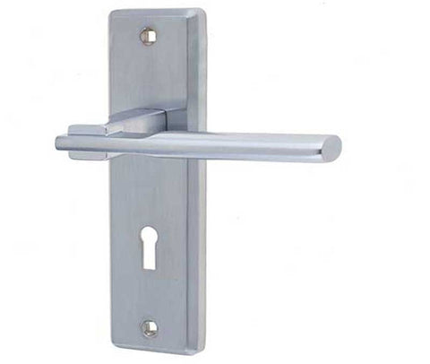 JV3003SC Locking Satin Chrome Frelan Hardware Delta Door Handles