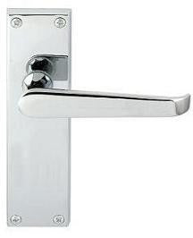 JV31L Victorian Plain Long Plate Door Handles