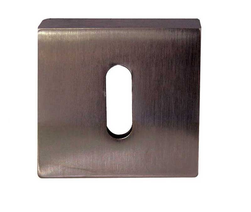 Dark Bronze British Keyhole Profile Square Escutcheon Plate - JV4005DB