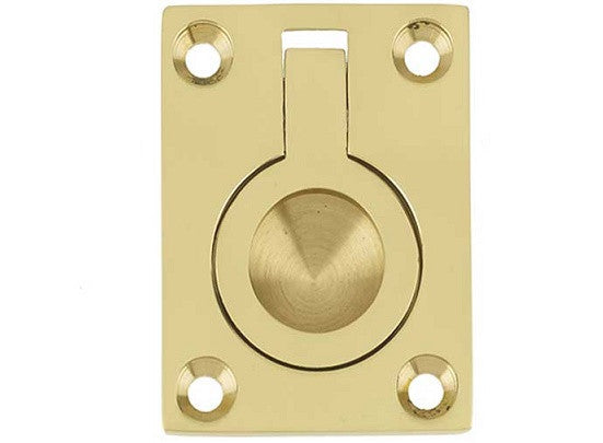 JV424 Polished Brass Flush Ring 63 x 50mm