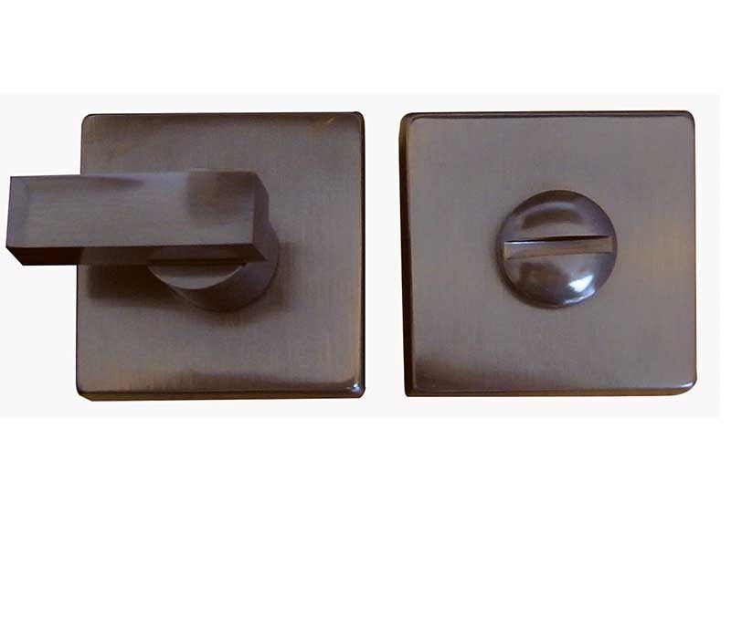 Dark Bronze Square Kubus Bathroom Turn and Release Mechanism JV4266DB