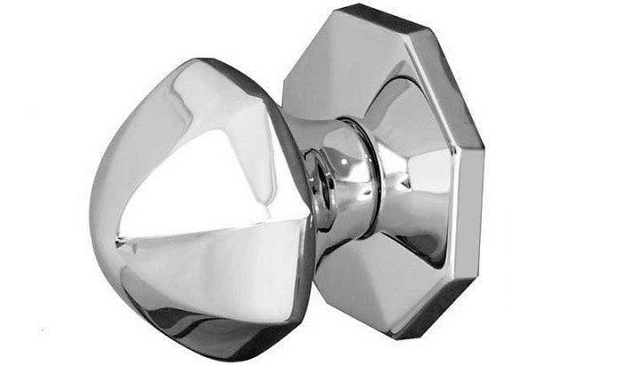 JV49 Polished Chrome Centre Door Knob
