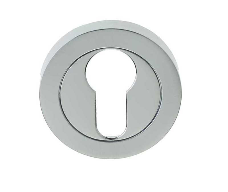 Dual Finish Polished Chrome/Satin Chrome EURO PROFILE Escutcheon JV503EPCSC