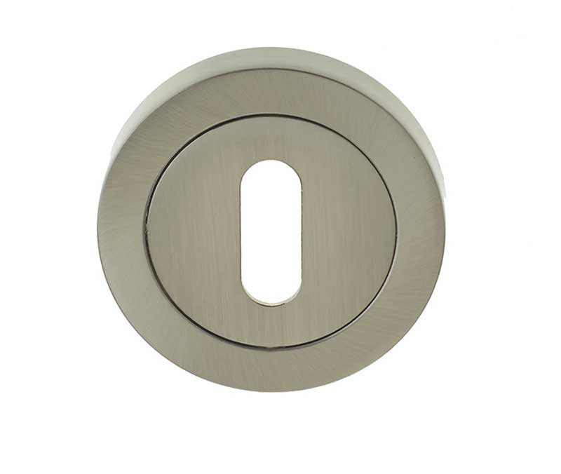 British Keyhole Profile Designer Escutcheon Plate - Various Finishes JV503
