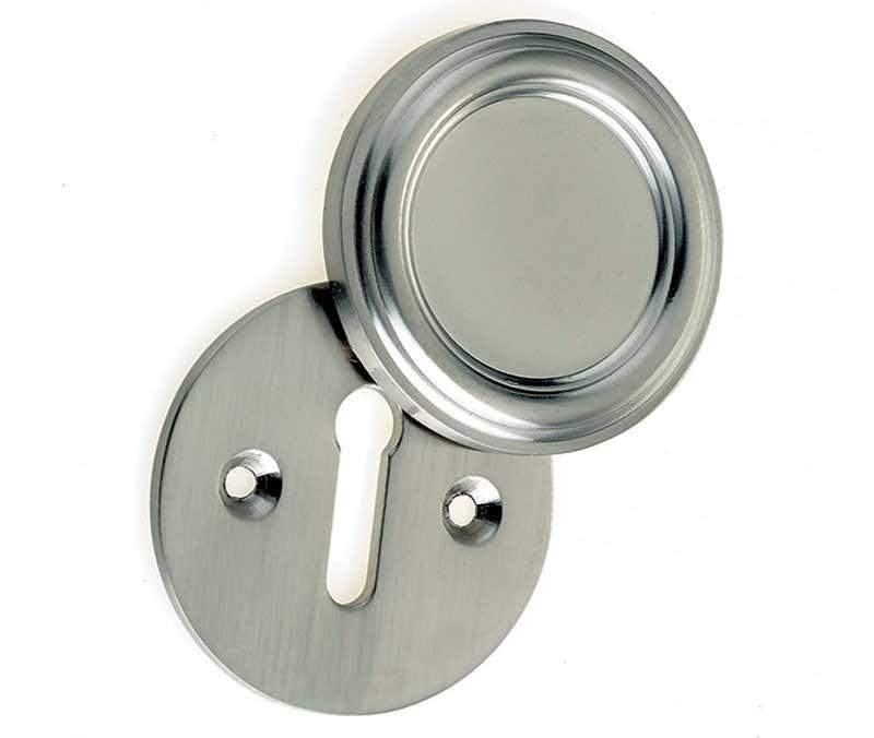 JV605SN Satin Nickel Parisian Covered Keyhole